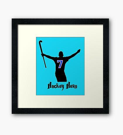 Hockey Hero! Framed Print