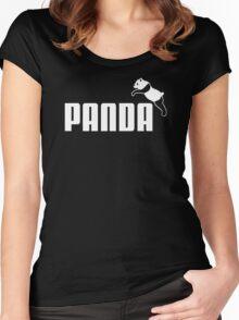 Panda Animal Cute Women's Fitted Scoop T-Shirt