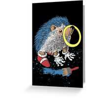 He wants to be the fastest one. Greeting Card