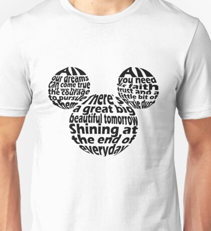 Hidden Mickey Qoutes Unisex T-Shirt