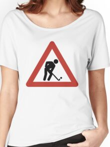 Hockey Men at Work! Women's Relaxed Fit T-Shirt