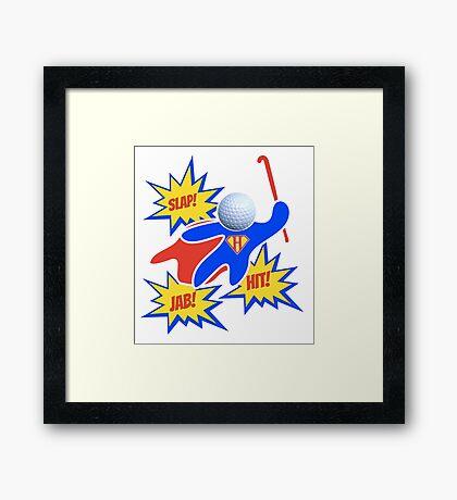 Hockey Pow! Framed Print