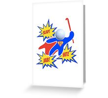 Hockey Pow! Greeting Card