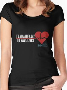 Grey's Anatomy - It's a Beautiful Day to Save Lives Women's Fitted Scoop T-Shirt