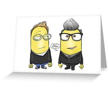 Simon Minion and Minion Kermode Greeting Card
