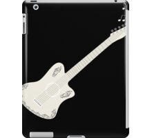 guitar and flying musical notes,vector illustration iPad Case/Skin