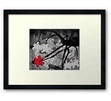 once there was this spider Framed Print
