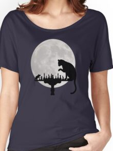 Cat and Rat Playing Chess  Women's Relaxed Fit T-Shirt