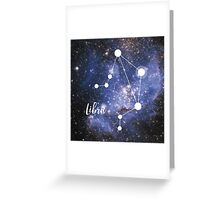 Libra Zodiac Sign, September 23 - October 22 Greeting Card
