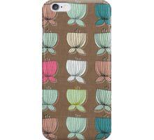 flower cups brown iPhone Case/Skin