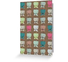 flower cups brown Greeting Card