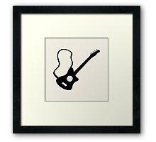 instrument guitar picture,illustration vector Framed Print