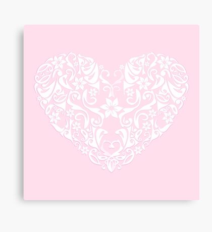 abstract pink love heart,vector illustration Canvas Print
