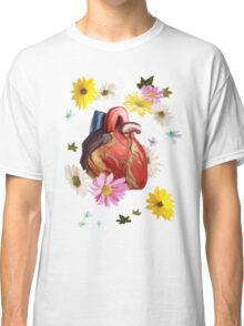 Heart And Flowers Classic T-Shirt