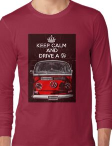 Keep calm and drive a VW Long Sleeve T-Shirt