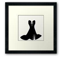 elegant dress with lace elements ,vector illustration Framed Print