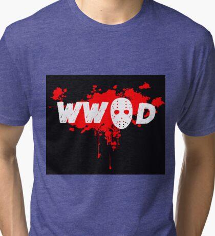 what would jason do Tri-blend T-Shirt