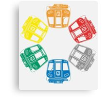 DC Metro Cars Canvas Print