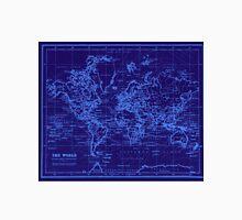 World Map (1899) Blue & Light Blue Unisex T-Shirt
