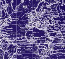 World Map (1899) Blue & White Sticker