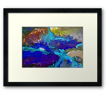 Psychedelic Seascape Framed Print