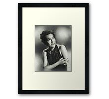 Gloria Swanson by MB Framed Print