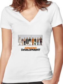 arrested development lineup Women's Fitted V-Neck T-Shirt