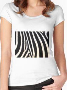 Zebra fur pattern  Women's Fitted Scoop T-Shirt