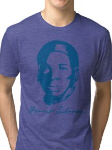 Harriet Tubman T-shirt with Real Signature Tri-blend T-Shirt