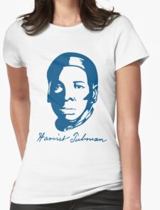 Harriet Tubman T-shirt with Real Signature Womens Fitted T-Shirt