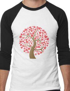 cherry blossoms Men's Baseball ¾ T-Shirt