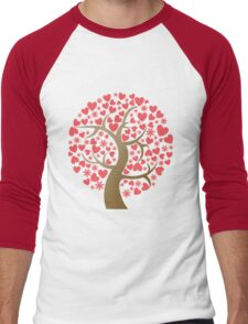 cherry blossoms Men's Baseball ¾ T-Shirt