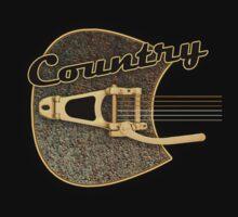 Country rust guitar Kids Tee