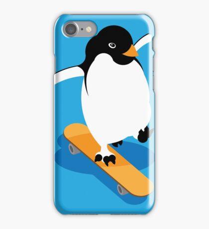 Skateboarding Penguin iPhone Case/Skin