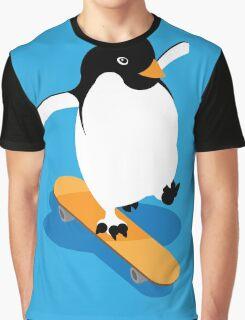 Skateboarding Penguin Graphic T-Shirt