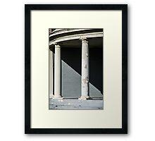 Damaged Column Framed Print