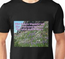 Wild Flowers Like a Sea  Unisex T-Shirt
