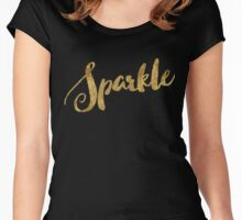 Golden Look Sparkle Women's Fitted Scoop T-Shirt