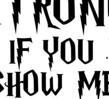 Show Me Your Patronus Sticker