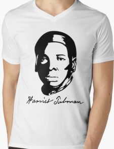Harriet Tubman's T-shirt with Real Signature Mens V-Neck T-Shirt