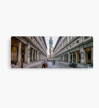 Piazza degli Uffizi Canvas Print