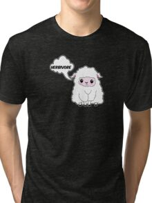 Herbivore - Vegan sheep Tri-blend T-Shirt
