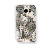 cats /rose and gold Samsung Galaxy Case/Skin