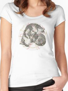cats /rose and gold Women's Fitted Scoop T-Shirt