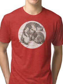 cats /rose and gold Tri-blend T-Shirt