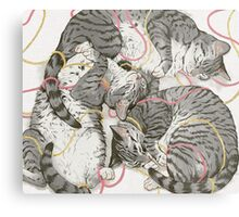 cats /rose and gold Metal Print
