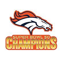 super bowl 50 2016 champions Photographic Print