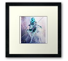 Whimsical Warrior Elf Woman Framed Print