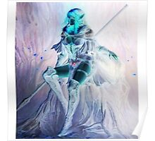 Whimsical Warrior Elf Woman Poster