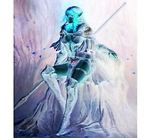 Whimsical Warrior Elf Woman Photographic Print
